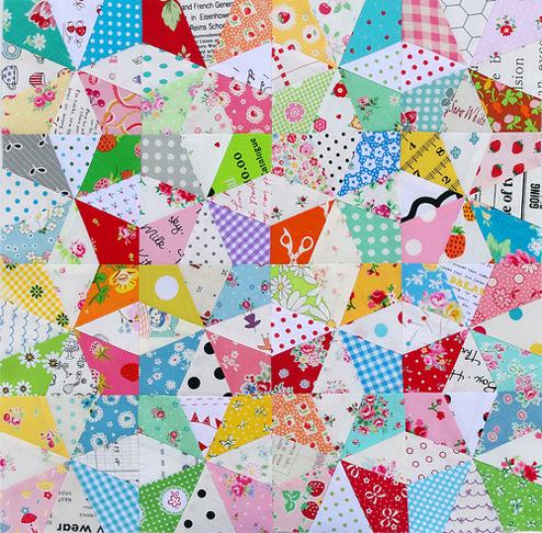Kaleidoscope Block Tutorial and Paper Piecing Pattern