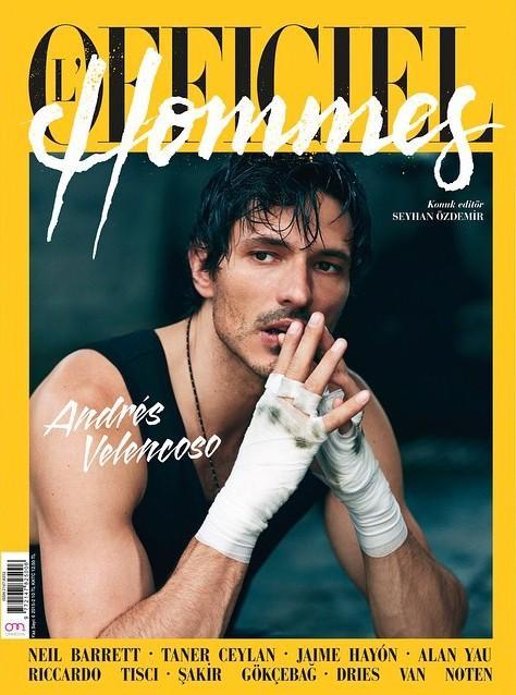 Andres Velencoso Segura by Emre Guven - L'Officiel Hommes Turkey July 2015 Cover
