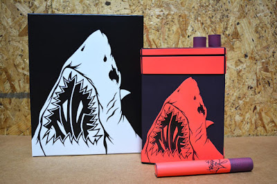 Shark Toof x Toy Qube Cigarette Box Resin Figure Set