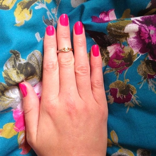 Nail Painted with Barry M Nail Polish in the shade Shocking Pink