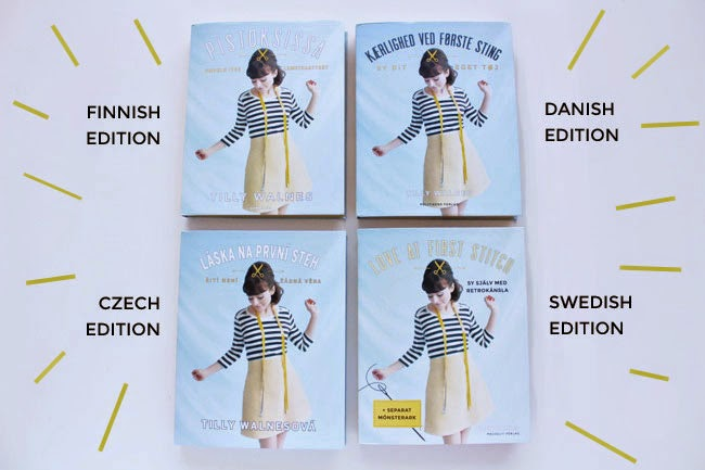 Love at First Stitch - in Finnish, Danish, Czech and Swedish