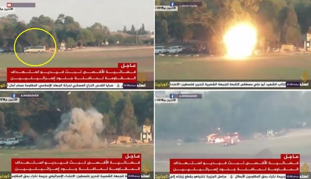 Hamas Balas Israel Dengan Luncurkan 300 Roket, 1 Bus Yang Berisi Tentara Israel Hancur