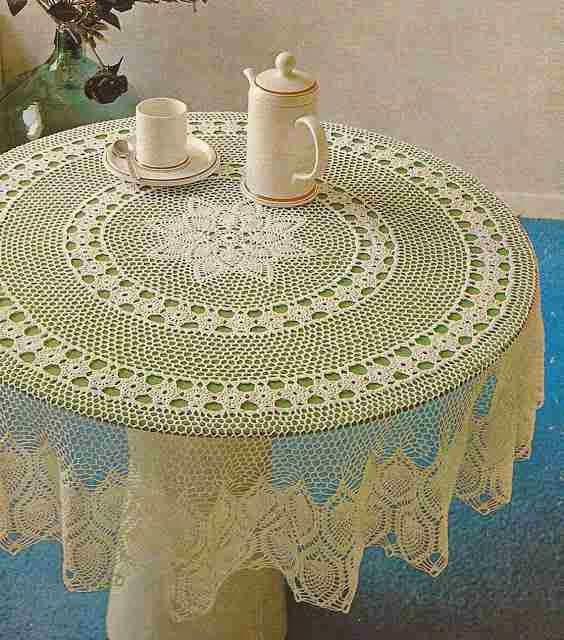 "Mantel Redondo ""Las Pasionarias"" a Crochet"