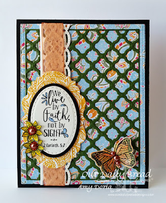 Our Daily Bread Designs Stamp sets: Boho Faith, Trois Jolies Papillons, Our Daily Bread Designs Custom Dies: Boho Background, Ovals, Stitched Ovals, Vintage Labels, Trois Papillons, Beautiful Borders, Our Daily Bread Designs Beautiful Boho Paper Collection