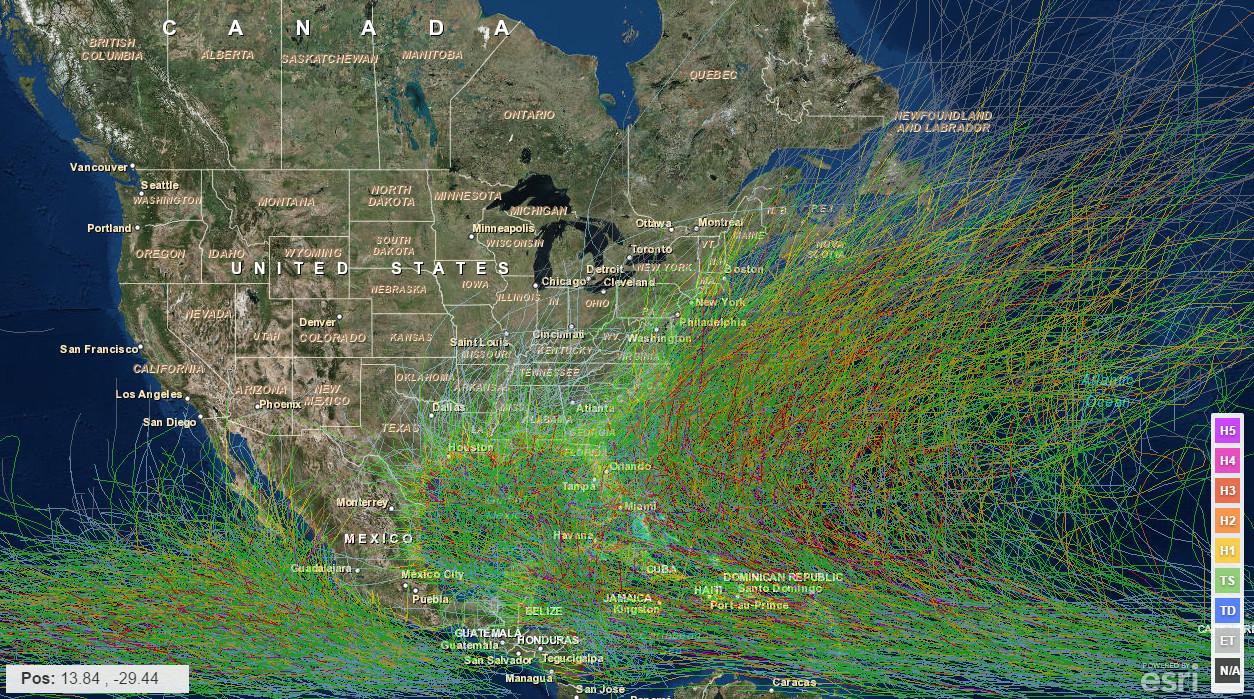 Historical Hurricane Tracks