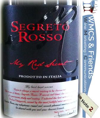 Segreto Rosso My Red Secret Primitivo & Malvasia Nera