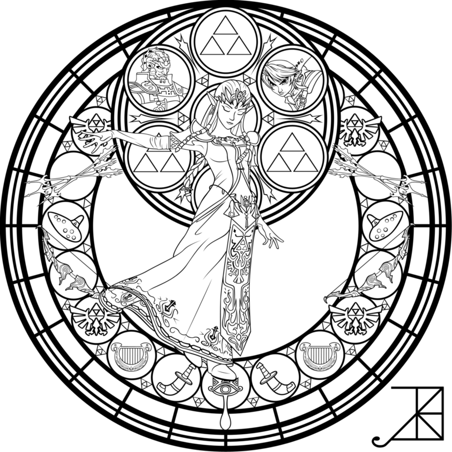 zelda coloring pages free download
