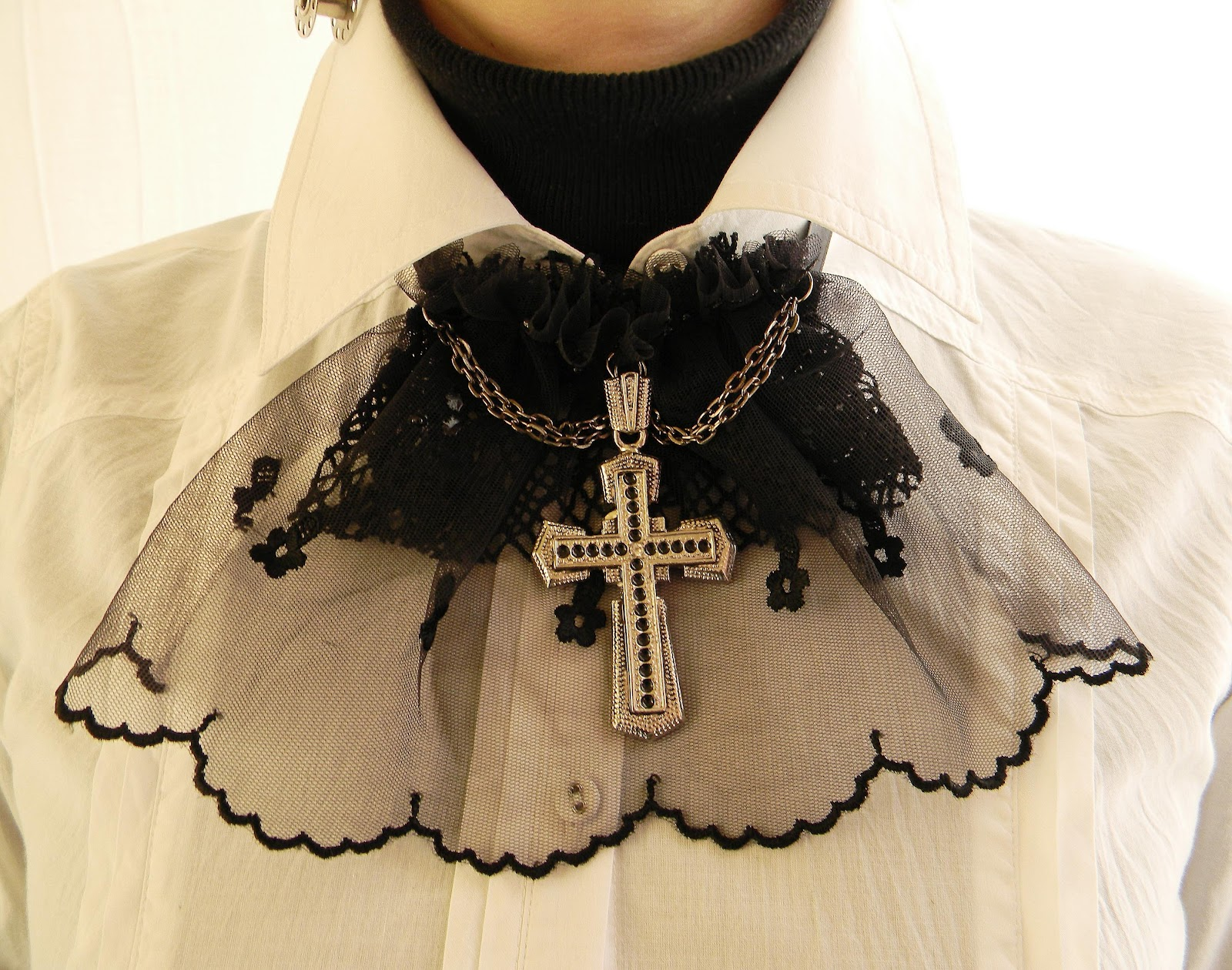 """Dark Cathedral"" Jabot/Collar"