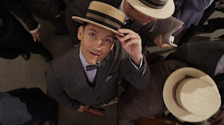 Tobey Maguire as Nick Carraway in The Great Gatsby, Directed by Baz Luhrmann