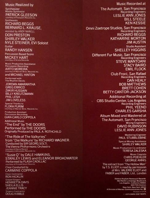 Apocalypse Now soundtrack LP