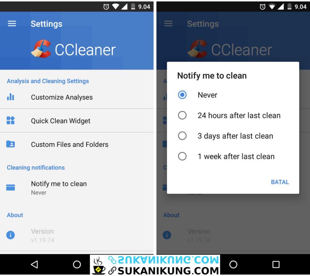 CCleaner Free Aplikasi Pembersih Sampah Pada Android - www.sukanikung.com