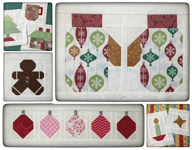 Lori Holt's 'Have Yourself A Quilty Little Christmas Blocks' by Thistle Thicket Studio. www.thistlethicketstudio.com