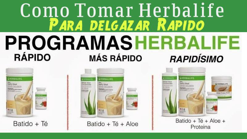 Nombre de los productos herbalife para adelgazar