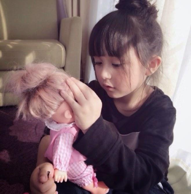 Gambar gratis Liu Chu Tian balita tercantik di dunia