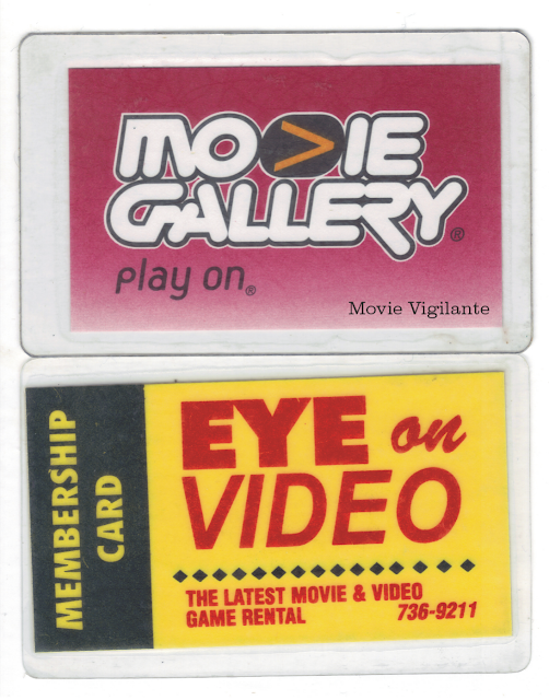 video store membership cards