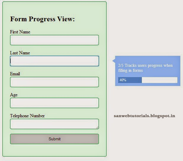 Form Progress Level