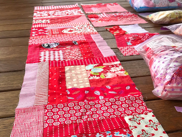 QUILTING: Let's all make a 'Scrappy Happy Rainbow Quilt' together