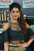 Ritika Singh in a Ethnic Deep Neck Dark Green Choli Ghagra at IIFA Utsavam Awards March 2017 ~ 008.JPG