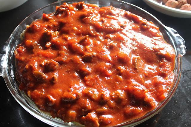 Baked Meatball Spaghetti Pie