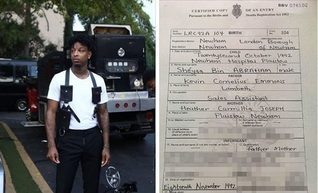 Birth Certificate Confirms That 21 Savage Was Born In UK and 'Not Atlanta' As He Claims