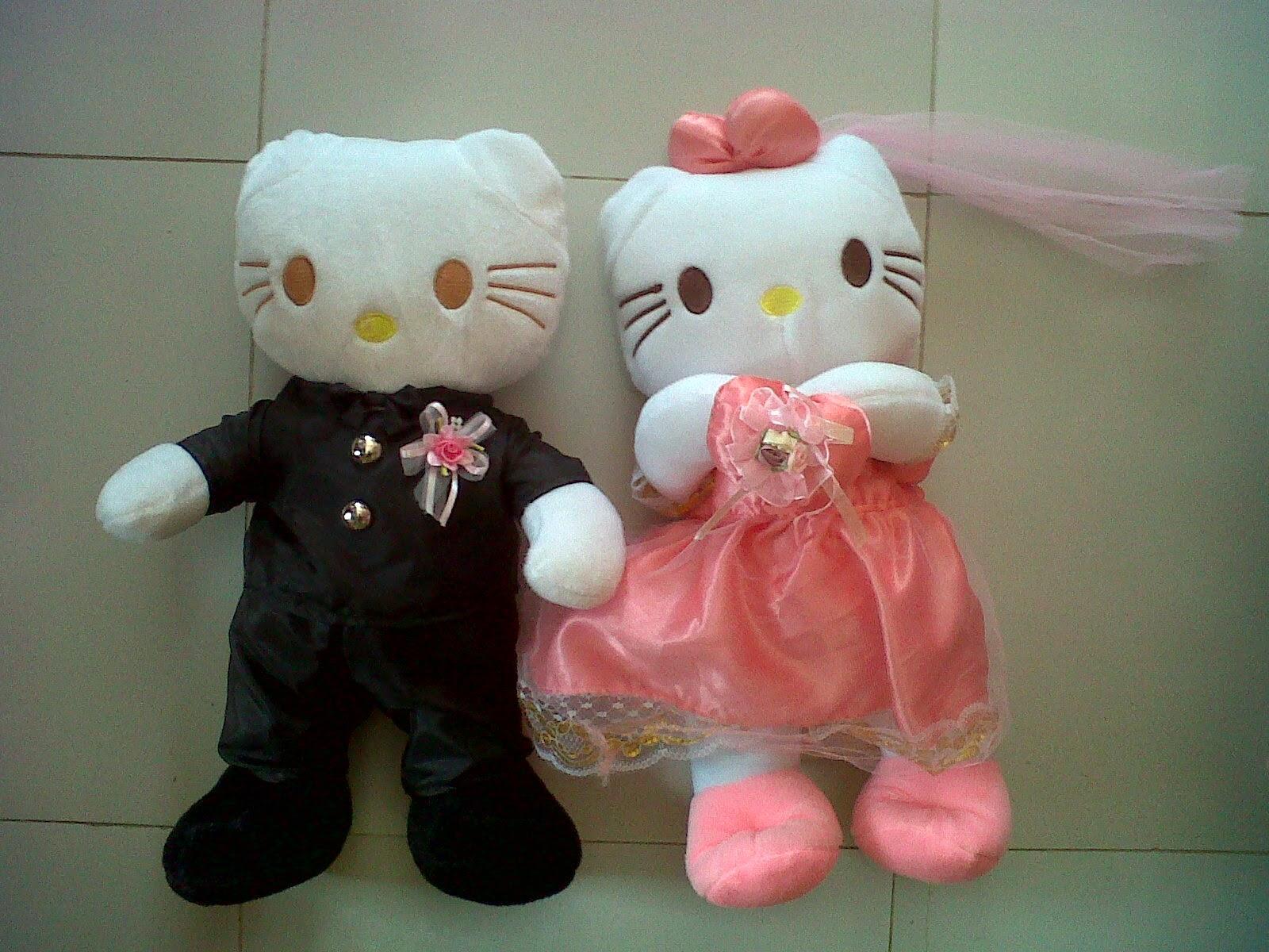 Gambar boneka hello kitty berpasangan