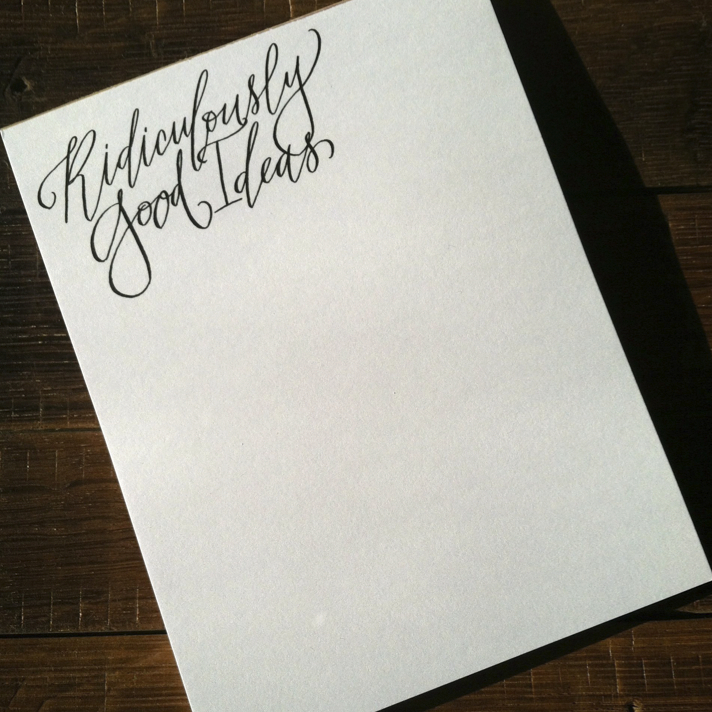 Hardink Calligraphy: NEW PRODUCT :: CUSTOM NOTEPADS