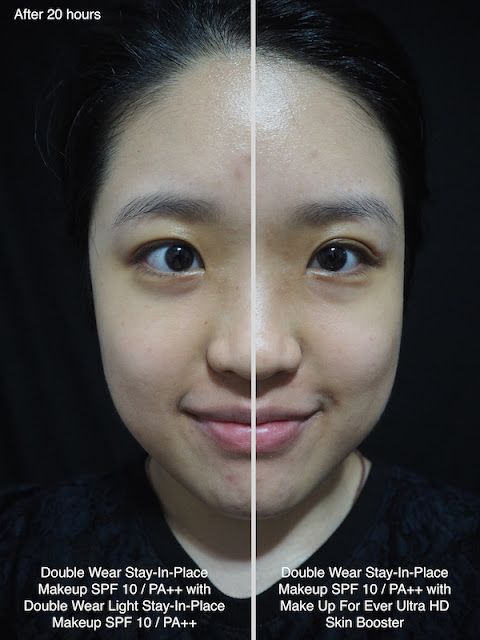 Estee Lauder Double Wear Foundations Side-By-Side Comparison Review Lunarrive Sephora Singapore