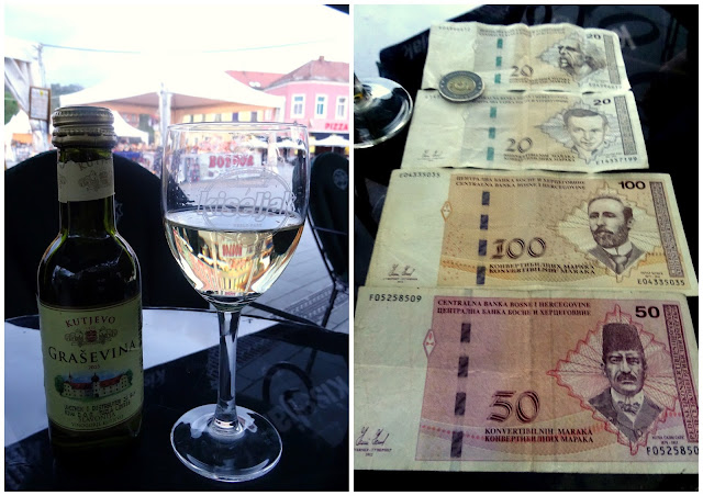 Tuzla Stari Grad (Old Town) and Bosnian Marks Currency KM