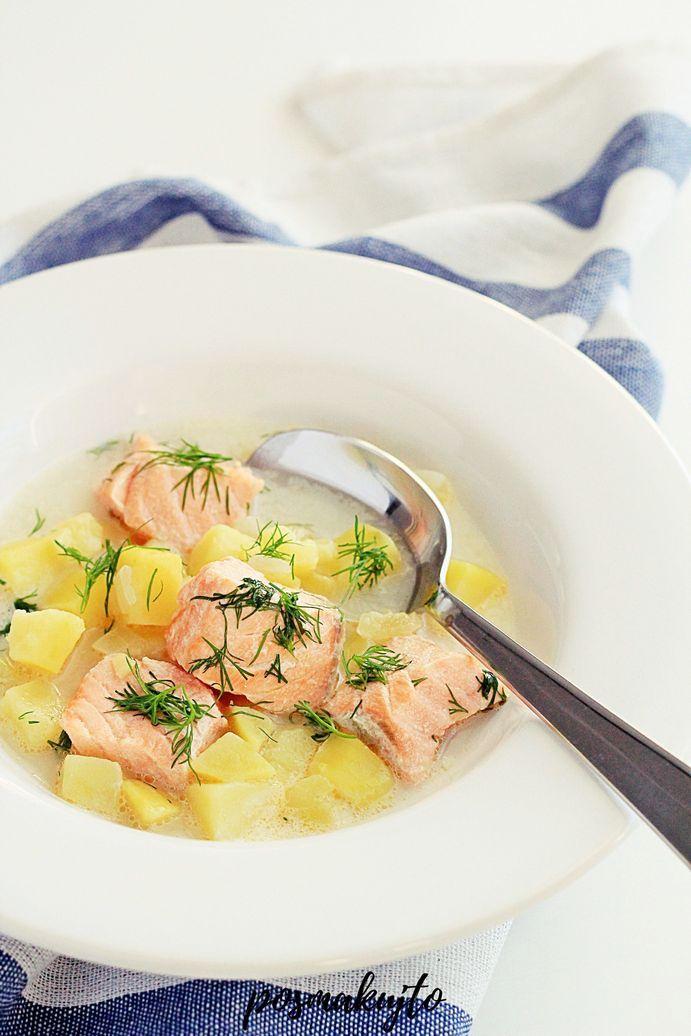 Fińska zupa rybna z łososiem i ziemniakami