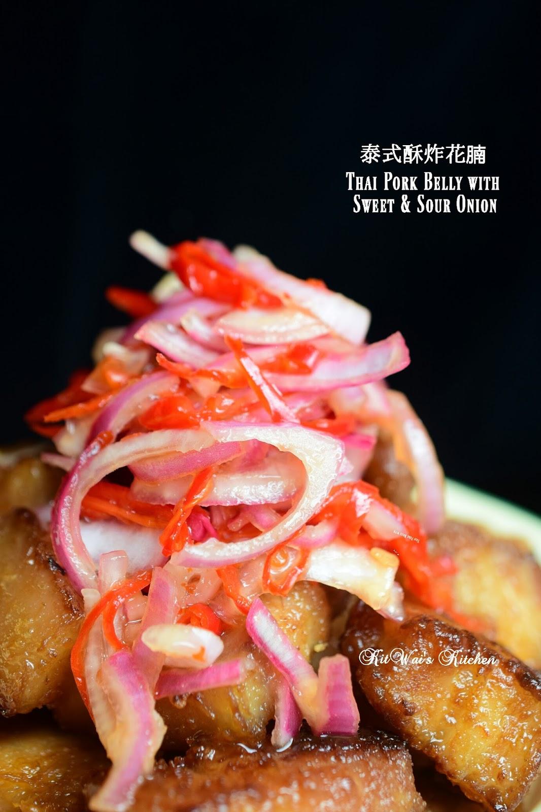 Kit Wai's kitchen : 泰国酥炸花腩 ~ Thai Pork Belly with Sweet ...