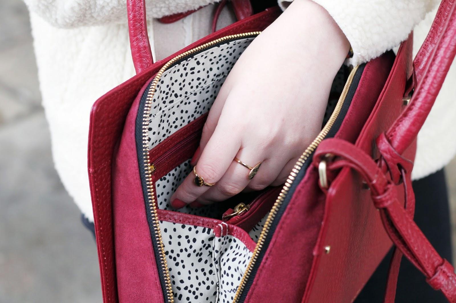 Bradley handbag interior