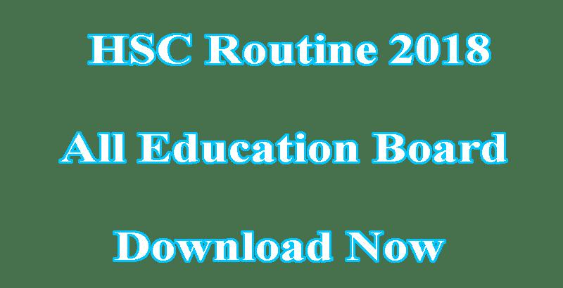HSC Routine 2018 PDF