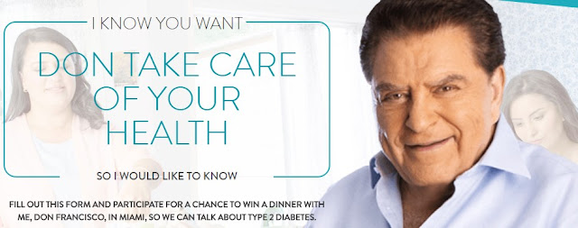 Boehringer Ingelheim Pharmaceuticals wants Hispanics to have the chance to enter to win a trip to Miami to meet Mario Kreutzberger, AKA, Don Francisco to discuss type 2 diabetes!