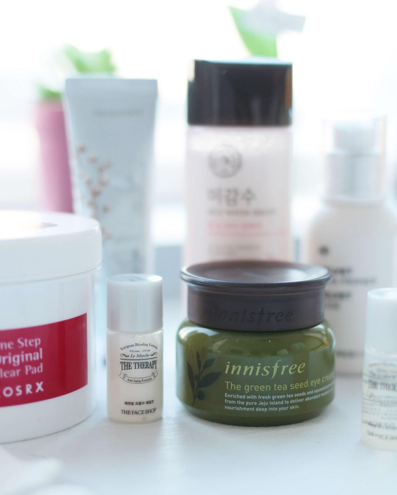 korean brand skincare haul innisfree the face shop cosrx kbeauty blogger