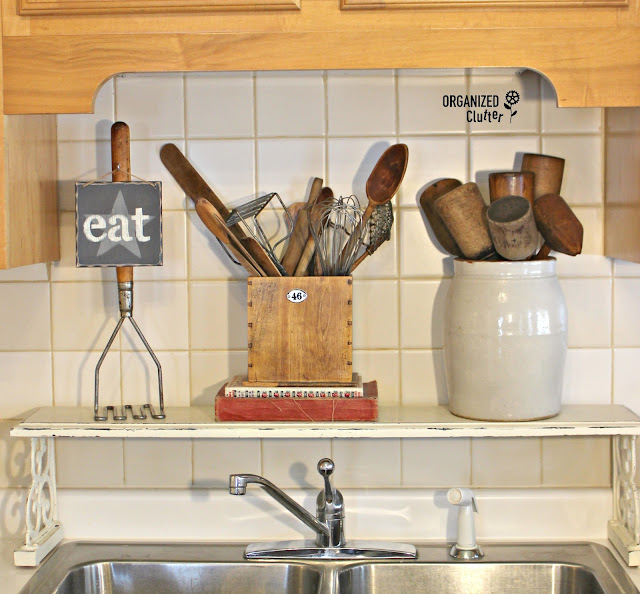 Over Sized Potato Masher Repurpose for a Farmhouse Style Kitchen organizedclutter.net