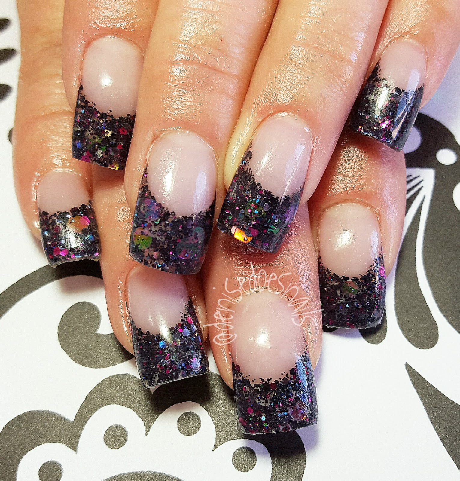Nail art by denise groves spring bling hot pink and lime green acrylic with swarovski crystals spring nails prinsesfo Image collections