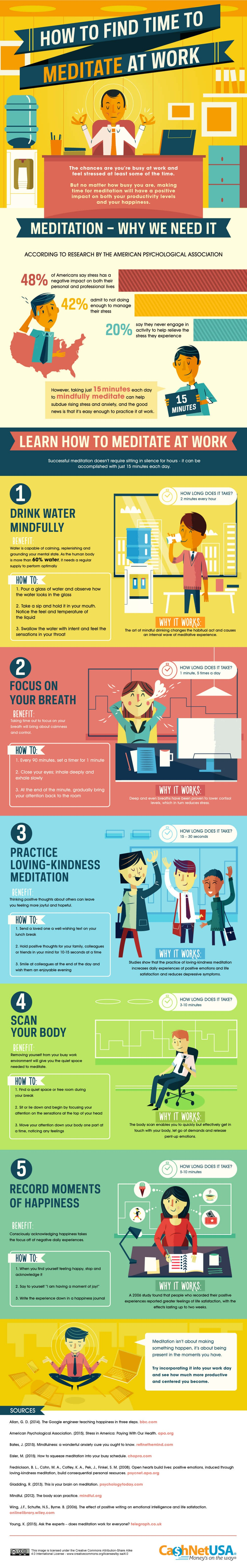 How to Bring Meditation Into the Workplace  - #infographic