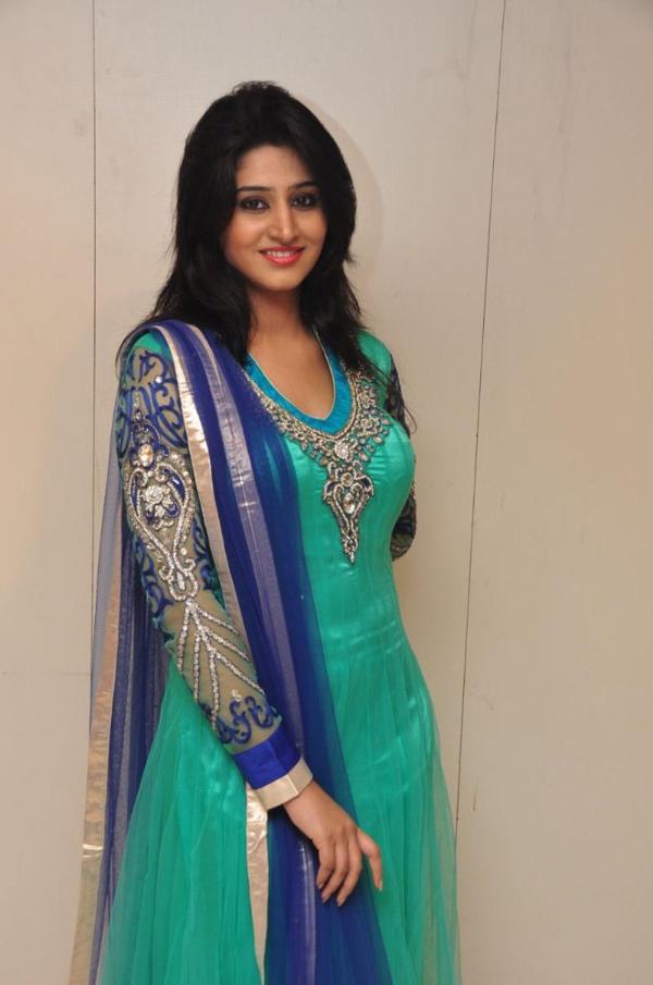 Glamorous Telugu Girl Shamili Photo Shoot In Blue Dress