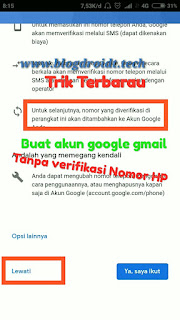 Cara ampuh membuat akun google tanpa nomor