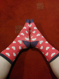PippaD wearing Heart Socks