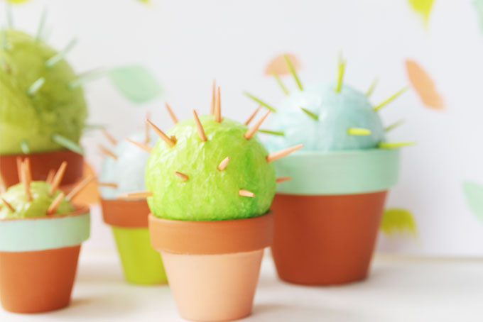 Make some toothpick cacti! The cutest and easiest cactus you will ever want in your home!