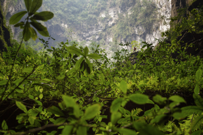 "La  caverna  más grande del mundo ""Hang Son Soong""  esta localizada en el Parque Nacional Phong Nha-Ke Bang , en el distrito Bo Tach,  en la provincia de  Quang Binh,  Vietnam."