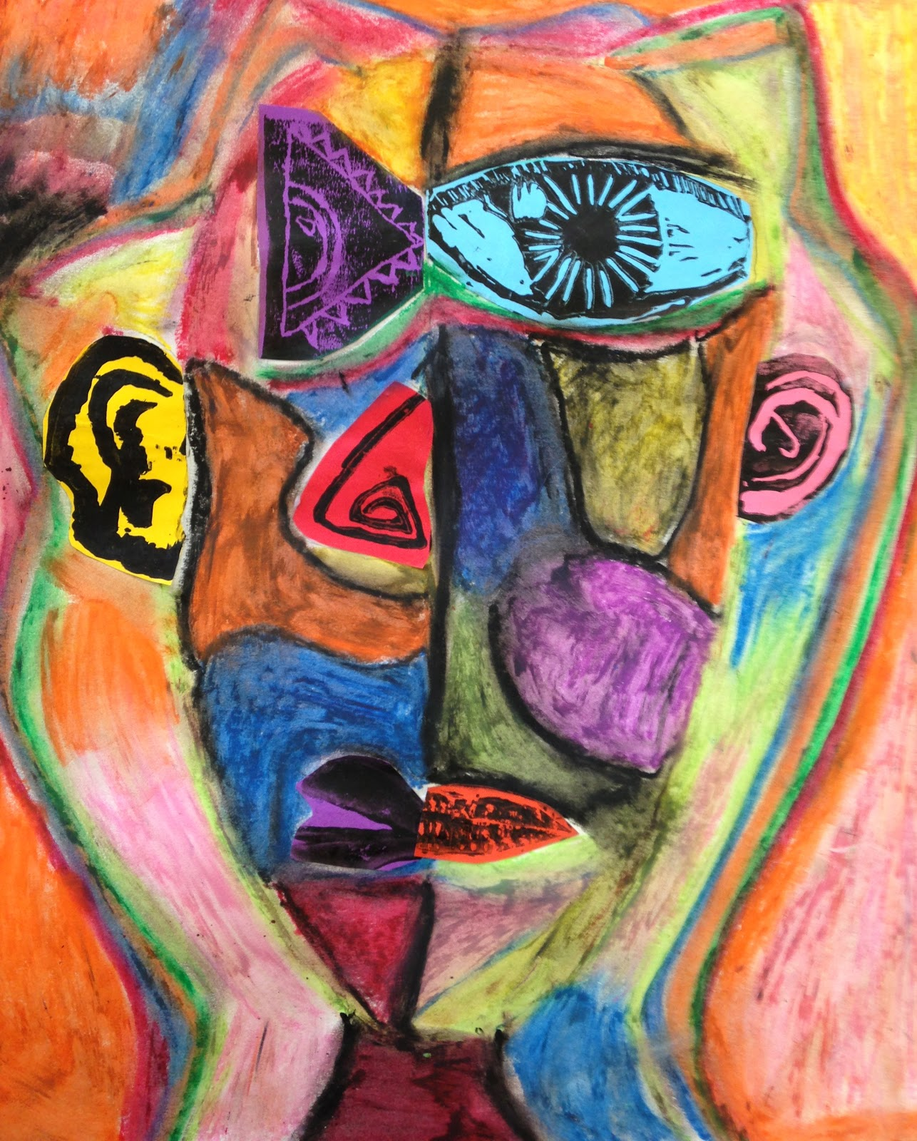 Tcds Art Department 6th Grade Abstract Faces
