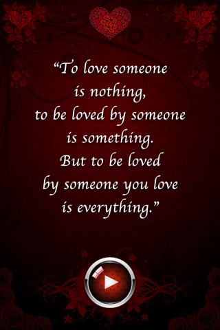 Facebook Passion To Love Someone Romantic Quote Wallpaper