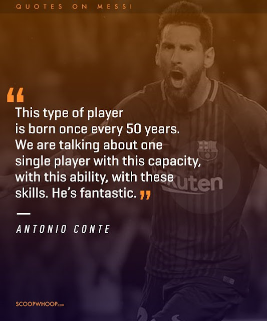 Conte Quote about Messi