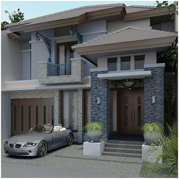 ide desain rumah minimalis 2 lantai sederhana