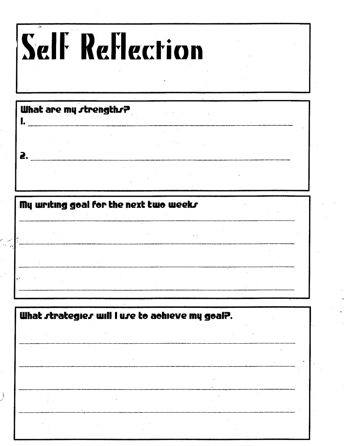 Teacher Self Reflection Essay How To Write A Reflective