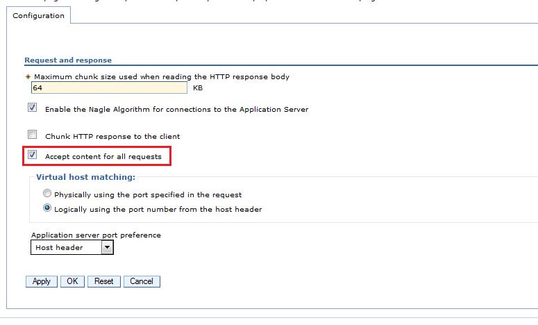 405 method not allowed for IBM HTTP Server ~ DevOps Insight