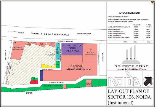 Layout Plan of Noida Sector-126 Institutional HD Map