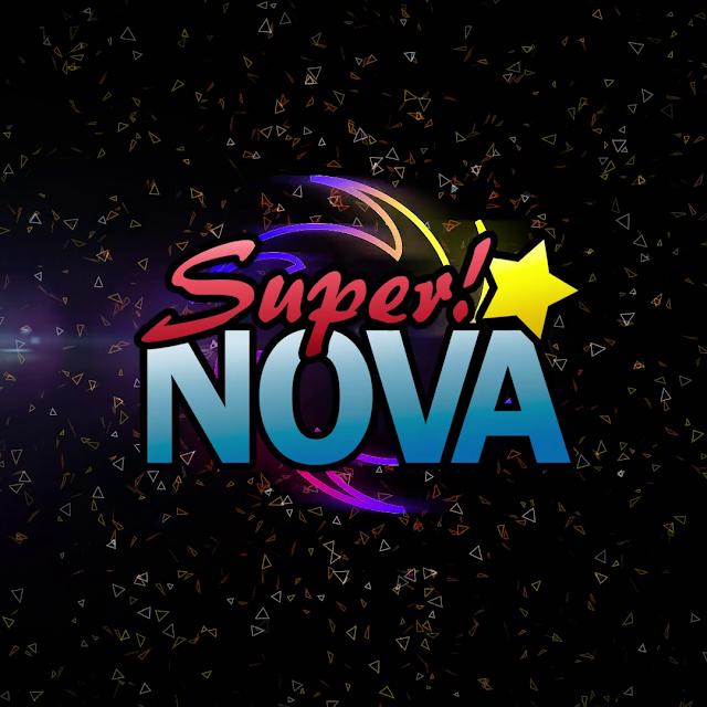 Imagen oscura con partículas flotantes y el logotipo del DJ Super!NOVA en medio
